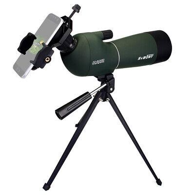 SVBONY 20-60x60 Zoom Spektiv Teleskop Wasserdicht Abgewinkelt&Tripod+Handy-Adapt