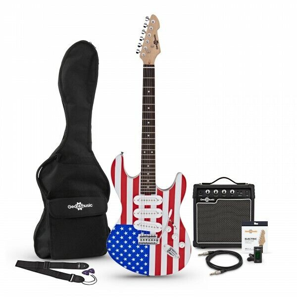 LA Electric Guitar + Amp Pack Stars and Stripes