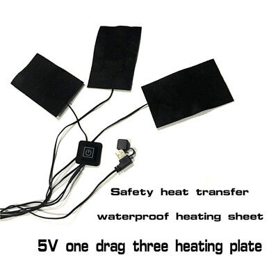 3Pcs/5Pcs USB Vest Heating Plates DIY Outdoor Hiking Fishing Jacket Heating Film