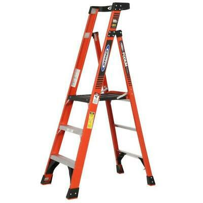 9 Ft. Reach Fiberglass Podium Step Ladder With 300 Lb. Load Capacity Type Ia