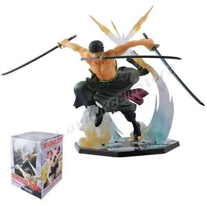 Cool JP Anime One Piece RORONOA. ZORO Battle Ver.17cm/6.7