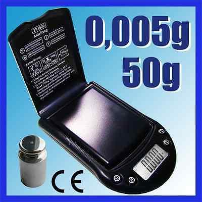 G&G 50g/0,005g Feinwaage Taschenwaage Digital-Waage PT50A+G