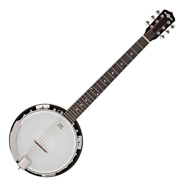 6 String Guitar Banjo by Gear4music