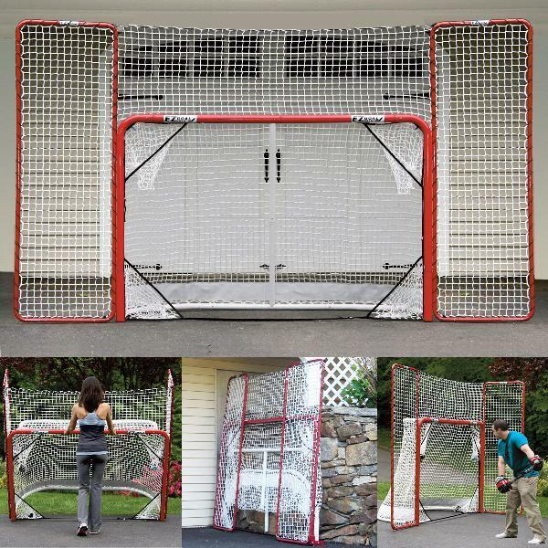 Portable Folding Regulation Size Hockey Training Goal Net with Backstop Targets