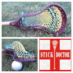 Lacrosse Stick Stringing Service - Mesh and Traditional
