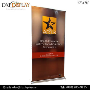 Pop Up Display Banner with Premium Quality Vinyl Material