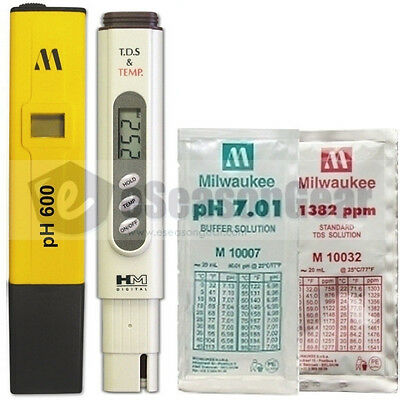 Ph600 Tds-4tm Ph 7 1382 Ppm Combo - Milwaukee Hm Digital Metersolution