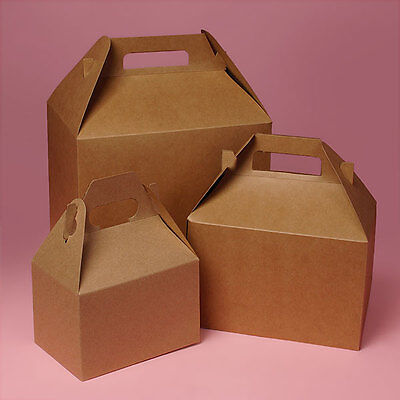 """Used, GABLE BOXES 4 x 2 1/2 x 2 1/2"""" KRAFT  10 boxes Gift Party Craft container boxes  for sale  Greensburg"""