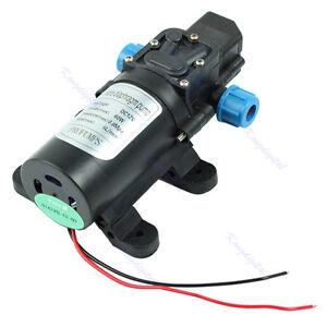 Micro Car High Pressure Water Pump Diaphragm Automatic Switch DC 60W 5L/min 12V