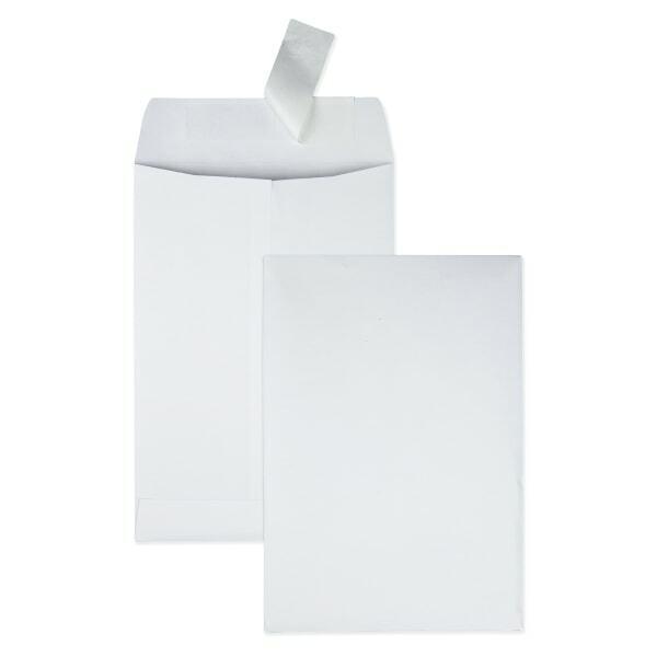 """Redi-Strip Envelopes, Plain, 6-1/2""""x9-1/2"""", 100/BX, White"""