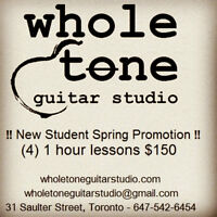 Whole Tone Guitar Studio - Spring Promotion 4 lesson package