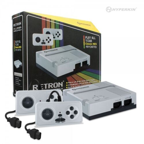 Hyperkin Retron 1 Gaming Console Silver for NES Game 8-Bit Cartridge