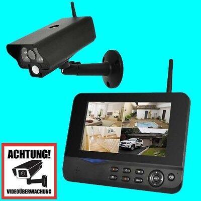 Funk Überwachungskamera Videoüberwachung Set mit 1 Monitor + 1 Outdoor Kamera