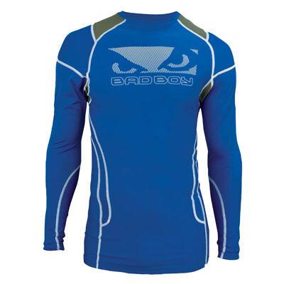 Lycra-hemd (Bad Boy Herren Kompression Trainieren Langärmlig Lycra Hemd - Blau)