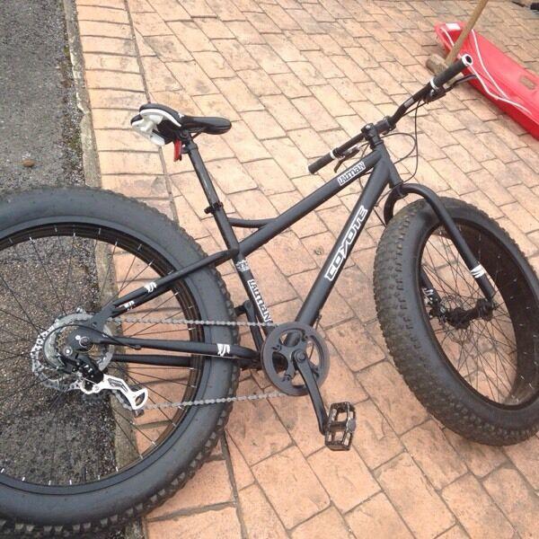 Fat mountain bike 26quot chunky 4quot width wheels in  : 86 from www.gumtree.com size 600 x 600 jpeg 83kB
