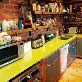Freestanding kitchen run solid wooden Worktops