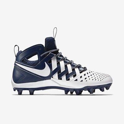 ccf7ba49d2d61 Nike Huarache V LAX Lacrosse Navy White Men s 13 Football Cleats 807142-410