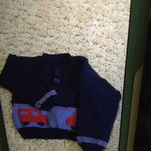 Boys handmade sweater - approx size 9-12 months