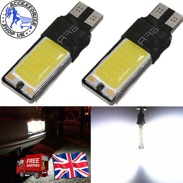 SIDE LIGHT T10 CAR BULBS LED Error Free CANBUS COB XENON WHITE W5W 501 UPTO 10X