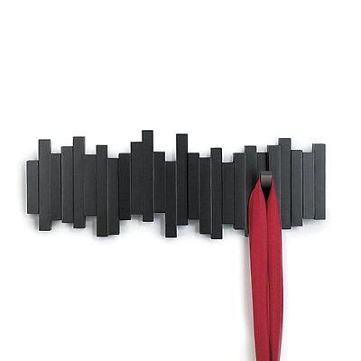 Umbra STICKS MULTI HOOK - Wall COAT RACK with 5 Hooks - BLACK
