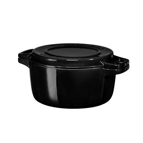 KitchenAid KCPI40CROB Gusseisen Bräter schwarz 24cm Gussbräter Auflaufform