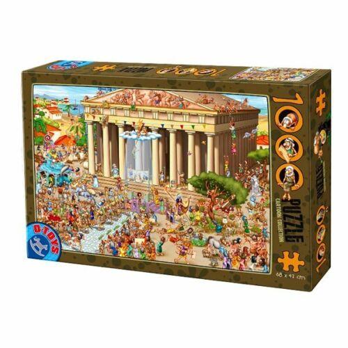 D-Toys 1000 Piece Puzzle - Cartoon Collection The Acropolis