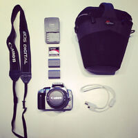 CANON EOS REBEL XT DIGITAL SLR 350D WITH LOWE PRO CASE AND SPARE