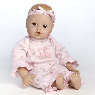 """PlayTime Baby Little Princess, Brown Eyes, 13"""" Doll by Adora"""