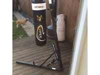 Punch bag and stand great condition and folds up easily