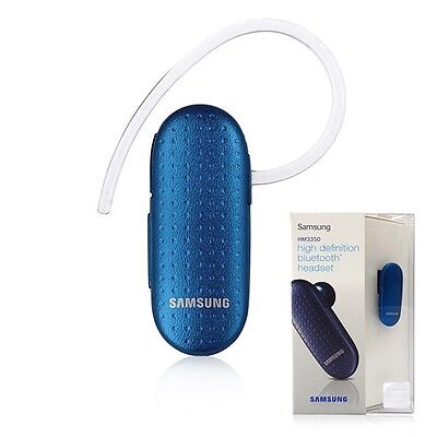 Samsung HM3350 Bluetooth Wireless Headset HD Voice Mono Audio STREAMING-BLUE