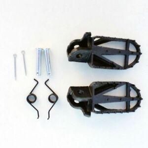 Steel Universal Folding Foot Pegs Footpegs for Dirt Pit Bike Motorcycle Black AU