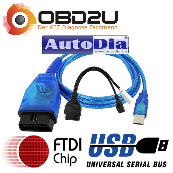 KKL Diagnose inkl. 2x2 Adapter OBD-2 на eBay