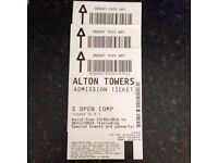 Alton towers tickets x3
