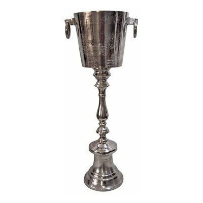 Champagnerkühler / Weinkühler auf Standfuß mit Gravur (Silber, Exner, Alu, Sekt)