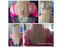 Hair extensions at home