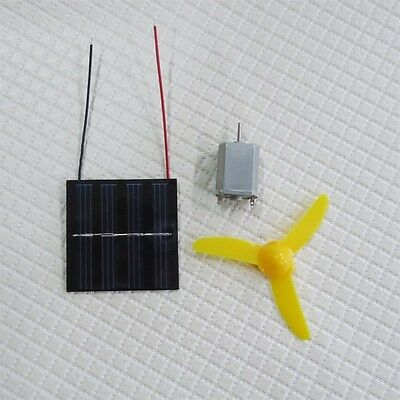 Solar Powered Motor and 3 wheel Fan Educational Kit