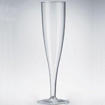 100 Einweg - Sektgläser 0,1l Sektflöten Plastik Sektglas transparent 1-teilig