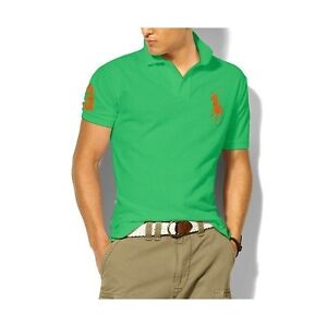 MENS RALPH LAUREN POLO SHIRT BIG PONY CUSTOM FIT - M, L, XL, XXL!
