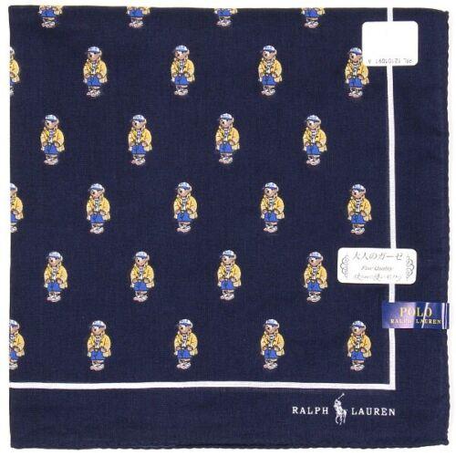 Polo RALPH LAUREN gauze Cotton Handkerchief Teddy Bear Print Dark Navy 2020Japan