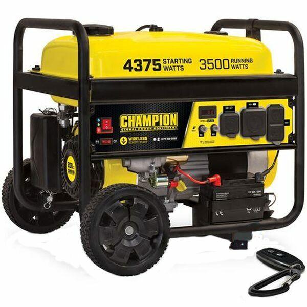 Champion 100558 - 3500 Watt Electric Start Portable Generator w/ RV Outlet & ...