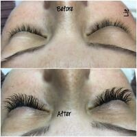 Lashes, eyelash extensions, 3D volume, singles lashes from $60