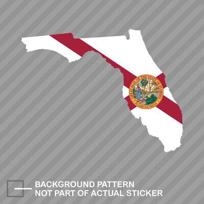 Florida State Shaped Flag Sticker Decal Vinyl -