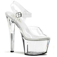 "SEXY CLEAR 7"" HEEL SHOES SKY-308"