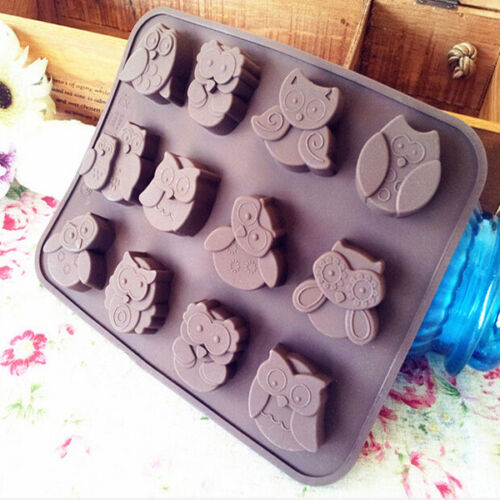 1pc Silicone Owl Cake Decorating Mould Candy ...