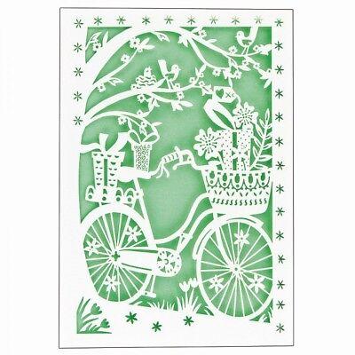 1 Laser-Grußkarte Fahrrad -  NEU (Jittenmeier)