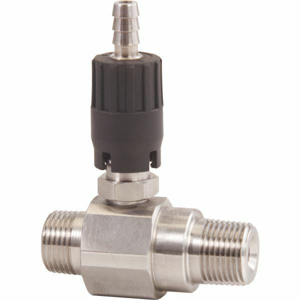 GP 100861 High Draw 20% Adjustable SS Chemical Injector MxM #1.8