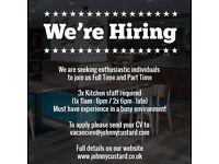 JOB VACANCY kitchen staff / waitress / waiter jobs ad