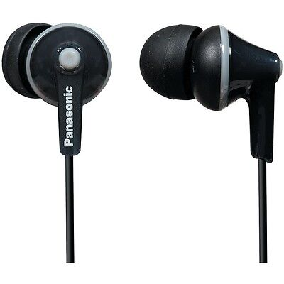 Panasonic RP-HJE125-K ErgoFit Stereo Earphones - Black / Genuine