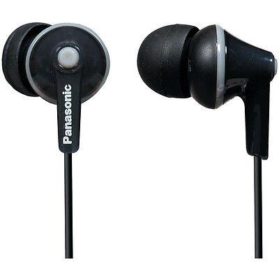 Panasonic RP-HJE125-K ErgoFit Stereo Earphones - Black / Genuine