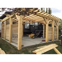 Gazebo - Pergola - Wooden Structures - Spring Special 2017